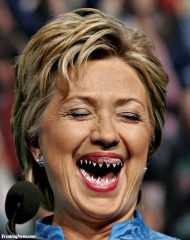 Hillary-Clinton-with-Shark-Teeth--119287